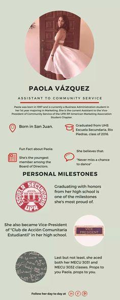 ¡Conozcan a su Asistente de Community Service 2016-2017, Paola Vázquez!