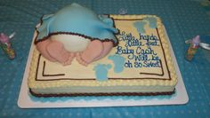 Are you hosting a baby shower and need baby shower cake ideas? These cute ideas will help you throw the perfect baby shower! Baby Shower Cake Sayings, Baby Shower Cakes For Boys, Baby Shower Decorations For Boys, Boy Baby Shower Themes, Baby Shower Cupcakes, Unique Baby Shower, Baby Shower Signs, Baby Boy Shower, Baby Theme