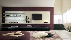 Modern Living Room with TV Decorating Ideas