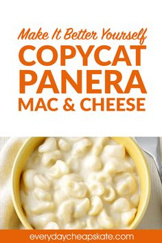 Make It Better Yourself: Panera's Mac n' Cheese, Starbuck's Lemon Loaf Creamy Mac And Cheese, Mac Cheese, Macaroni And Cheese, Cheese Fruit, Oven Recipes, Copycat Recipes, Cooking Recipes, Easy Recipes, Panera Bread Mac And Cheese Recipe