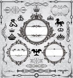 Set Of Vintage Design Elements #GraphicRiver Set Of Royal Frames And Vintage Design Elements Created: 7May12 GraphicsFilesIncluded: VectorEPS Layered: No MinimumAdobeCSVersion: CS Tags: abstract #animal #border #circle #collection #composition #crown #curves #decor #decorative #design #floral #flower #frame #horse #illustration #leaf #ornament #round #royal #set #vector #vintage