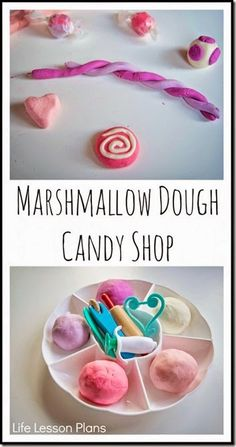 Marshmallow Playdough Recipe - This is such a fun, unique playdough recipe that is EDIBLE! Great kids activity or for sensory play for toddler, preschool, and kindergarten age kids!