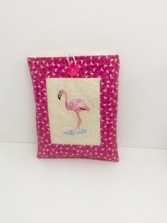 Flamingo fabric, Ipad mini gadget case, ipad mini 2 bag, covers for tablets, Mom Birthday gift, padded cover for gadgets, pouch for e reader