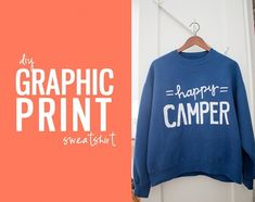 Make your own graphic prints on shirts/sweatshirts... I could get so into this.
