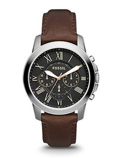 online shopping for Fossil Men's Grant Stainless Steel Watch Brown Leather Band from top store. See new offer for Fossil Men's Grant Stainless Steel Watch Brown Leather Band Michael Kors Chronograph, Herren Chronograph, Fossil Watches For Men, Men's Watches, Cool Watches, Jewelry Watches, Wrist Watches, Fashion Watches, Men Watches
