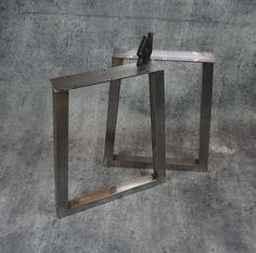 Trapezoid Table legs (Set of Diy Table Legs, Metal Table Legs, Dining Table Legs, Beams, Entryway Tables, Plates, Steel, Furniture, Etsy Shop