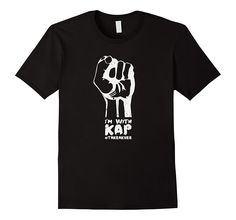 """Amazon.com: I'm With Kap Shirt #IMWITHKAP Shirt Take a Knee Shirt: Clothing  With this I'm With Kap Shirt (##IMWITHKAP) you'll be the talk of the town amongst other people who agree with the football """"Take a Knee"""" Protest. Buy this I'm With Kap Tshirt as a gift for someone or wear it yourself if you want to make a statement.  Buying a football protest shirt is hard. This I'm With Kap Shirt (#IMWITHKAP) will solve your Christmas gift problems."""