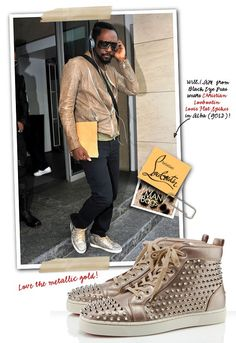 Will.I.Am from Black Eye Peas Spotted In Paris With Those TDF Christian Louboutin Louis Flat Spikes in Alba