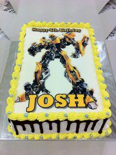 Welcome to Sweetz Treats: Bumblebee Transformer EGGLESS CAKE