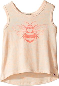 Appaman Kids Extra Soft Love Bug Ios Tank (Toddler/Little Kids/Big Kids) (Tiger Heather) Girl's Sleeveless Girls Dress Up, Tank Girl, Love Bugs, Big Kids, Girl Outfits, Tank Tops, Shopping, Ios, Baby Girls