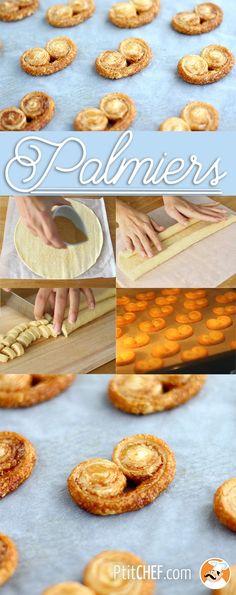 #ptitchef #recette #cuisine #dessert #goûter #snack #faitmaison #palmier #recipe #cooking #food #homemade #diy #imadeit
