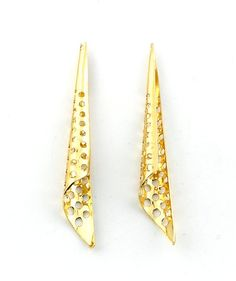 6pcs Gold Plated Long Filigree Bead Cone by FancyGemsandFindings, $4.95