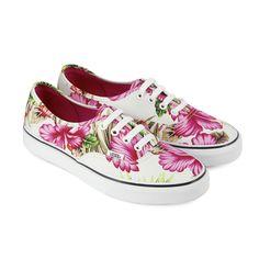 vans chaussure femme a fleur