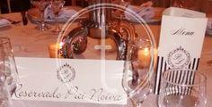 Placa reservado personalizada para casamento