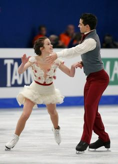 Cappellini and Lanotte of Italy perform the Ice Dance Free Dance at the ISU European Figure Skating Championships in Budapest