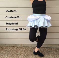 Custom Cinderella Inspired Running Skirt by runthekingdom on Etsy https://www.etsy.com/listing/236605244/custom-cinderella-inspired-running-skirt