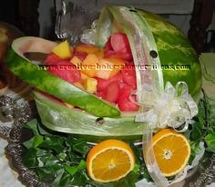 Baby Shower Ideas for Boys On a Budget   Watermelon Baby Carriage Instructions