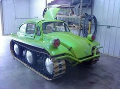 Oh wow... Tank treads on a VW!!