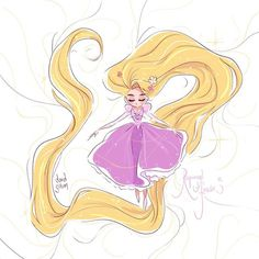 Very quick sketch to celebrate Disney's Tangled 7th anniversary for the US release.Rapunzel Forever ✨by Davidgilson
