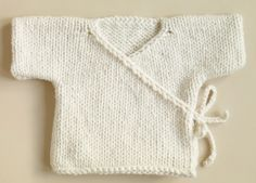 Baby Kimono knit pattern free - practical comfortable knit for baby without buttons