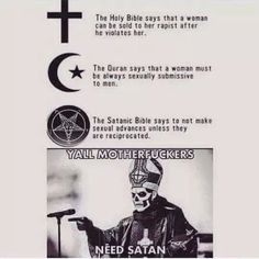 THATS RIGHT BITCHES TAKE MY SATANIC RITURALS AS A BLESSING