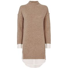 Brochu Walker Women's Layered Sweater Dress (2.640 HRK) ❤ liked on Polyvore featuring dresses, high neck long sleeve dress, layered sweater dress, high neckline dress, layered dress and long-sleeve sweater dresses