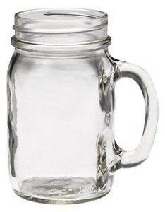 Amazon.com: Golden Harvest Mason Jar Mug - w/Handle - 16 oz - Case of 24: Kitchen & Dining $38.50