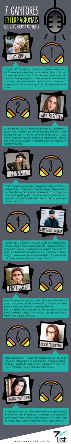 7 cantores internacionais que você precisa conhecer