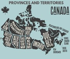 How many Canadian provinces or territories have you visited?👍 for more than 1❤ for more than 3😆 for more than 5😮 If you've been to all! #canadian #ottawa #traveller #travelcanada #canadatravel #travelling #travelingram #igtravel #instatraveling #instapassport #tourist #explorecanada #vancouver #mytravelgram #visiting #tourism Map Painting, Newfoundland And Labrador, Wall Maps, Map Design, Graphic Design, Cartography, Canada Travel, Map Art, Graphic Illustration