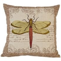 "Dragonfly 17"" Square Down Throw Pillow"