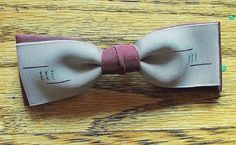 1940S VINTAGE BOW TIE CLIP ON HABAND PATTERSON N.J. TAN BROWN  SUIT TIE FAILLE  #HABAND #BowTie #Cocktail