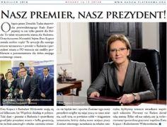 ''Nasz premier, nasz prezydent''. Radomska PO wydała przedwyborczą gazetę
