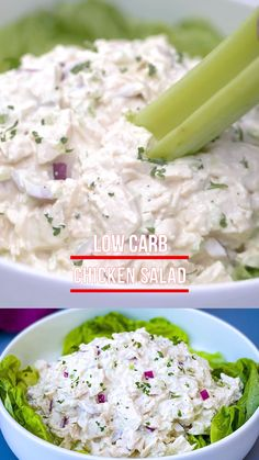 Feb 2020 - This Easy Keto Low-Carb Chicken Salad is a quick and old-fashioned recipe that is far from boring. It's made with juicy chicken breasts, mayo, celery, and chopped onions. Your lunch meal prep just got easier! Lunch Recipes, Keto Recipes, Dinner Recipes, Healthy Recipes, Healthy Foods, Low Carb Chicken Salad, Chicken Salad Recipes, Roast Chicken Salad, Homemade Chicken Salad Recipe Easy