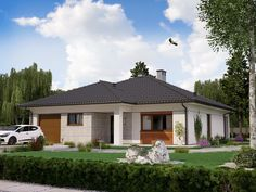 DOM.PL™ - Projekt domu PJK Ka26 CE - DOM GW1-31 - gotowy koszt budowy 100 M2, Gazebo, House Plans, House Design, Outdoor Structures, Architecture, Outdoor Decor, Home Decor, Houses