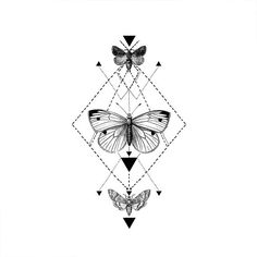 Tribal Butterfly tattoo Pattern Tattoo Temporary by ArrowTattoo