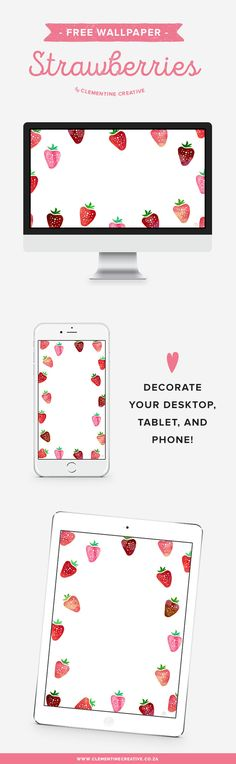Decorate your desktop, iPad or iPhone with a juicy strawberry wallpaper! Download here.