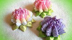 Цветы канзаши из ленты 2,5 см, мастер-класс Лерита.