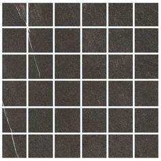 "Madrid Ceramics Lifestone 2"" x 2"" Porcelain Mosaic Tile in Dark Gray"
