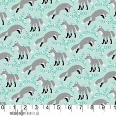 Patty Sloniger - Les Amis - Socks the Fox in Aqua