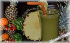 kierunek zdrowie: Koktajl ananasowy ze szpinakiem