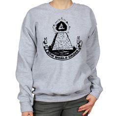 Illuminati Pyramid Dollar Bill Scroll NWO by WhiteoutFashion