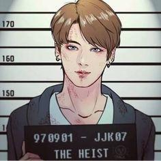The youngest heist Jeon Jungkook in jail 😭😭😭 Jungkook Fanart, Bts Jungkook, Fanart Bts, Vkook Fanart, Taehyung, Bts Chibi, Yoonmin, Fan Art, Kpop