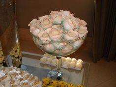 Botão de rosa em tecido p/ doces