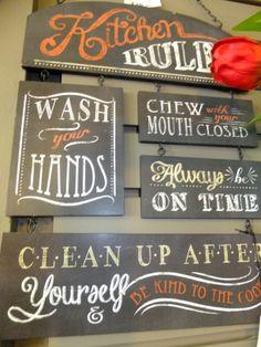 Kitchen Decor: Kitchen Rules Metal Sign...@Wendy Kwok Skies in Port Elgin!