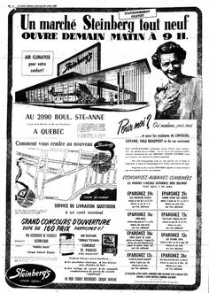 Ste Anne, Vintage Ads, Mall, Canada, My Favorite Things, Heart, Vintage Advertisements, Retro Ads, Hearts