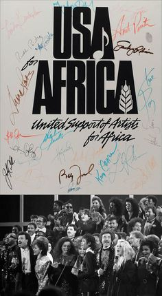 """""""We are the world"""" ♪ http://youtu.be/k2W4-0qUdHY Michael Jackson & Lionel Richie Dixit   Written by Michael Jackson and Lionel Richie, produced by Quincy Jones, recorded by popular musicians to raise funds to help famine-relief efforts in Ethiopia which experienced unusual drought in 1985."""
