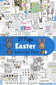 59 Page Printable Easter Activity Pack Free Printables for Preschool and Kindergarten. Easter Activities and worksheets. Easter Worksheets, Easter Printables, Easter Activities, Spring Activities, Easter Crafts For Kids, Book Activities, Preschool Activities, Free Printables, Free Worksheets