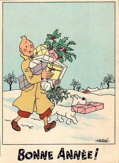 Felicitacion de Hergé