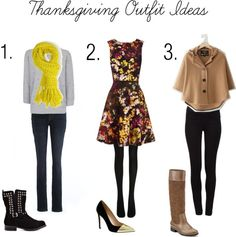 Thanksgiving Outfit Ideas maybe an orange scarf instead.