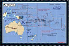 """Oceanía: """"Cinco Continentes En Uno"""": Mapas; Países & Capitales De ..."""